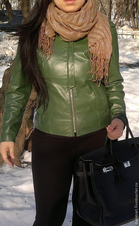 Верхняя одежда ручной работы. Ярмарка Мастеров - ручная работа. Купить Женская кожаная куртка 100% кожа. Handmade. косуха