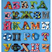 Куклы и игрушки ручной работы. Ярмарка Мастеров - ручная работа Алфавит с обозначением на магнитах (авторская работа!). Handmade.