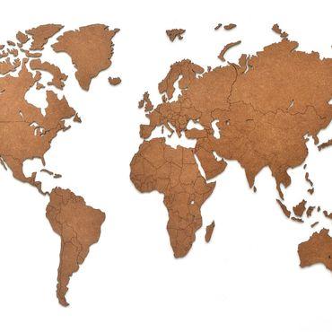 Diseño y publicidad manualidades. Livemaster - hecho a mano Mapa del mundo decoración de la pared marrón 90h54 cm. Handmade.