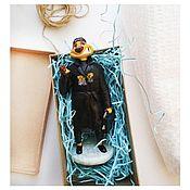 Именные сувениры ручной работы. Ярмарка Мастеров - ручная работа Фигурка из полимерной глины Тимон. Handmade.