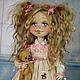 Коллекционные куклы ручной работы. Ярмарка Мастеров - ручная работа. Купить Фрося . Кукла авторская текстильная . Кукла ручной работы .. Handmade.