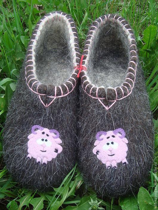 Обувь ручной работы. Ярмарка Мастеров - ручная работа. Купить Валяные тапочки. Handmade. Валяные тапочки, сувениры и подарки, тапочки