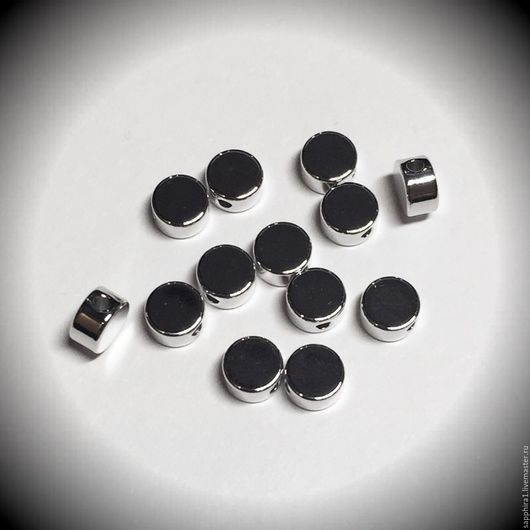 Для украшений ручной работы. Ярмарка Мастеров - ручная работа. Купить Бусина 5 мм родиевое покрытие mini. Handmade.