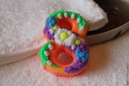 Мыло ручной работы. Ярмарка Мастеров - ручная работа. Купить мыло на 8 марта. Handmade. Разноцветный, подарок на 8 марта