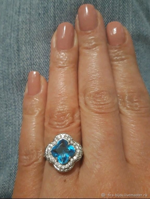 Ring: Silver ring with Topaz Tira, Rings, Moscow,  Фото №1