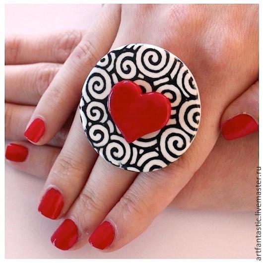 """Кольца ручной работы. Ярмарка Мастеров - ручная работа. Купить Кольца """"Три цвета"""". Handmade. Разноцветный, кольца, акрил"""