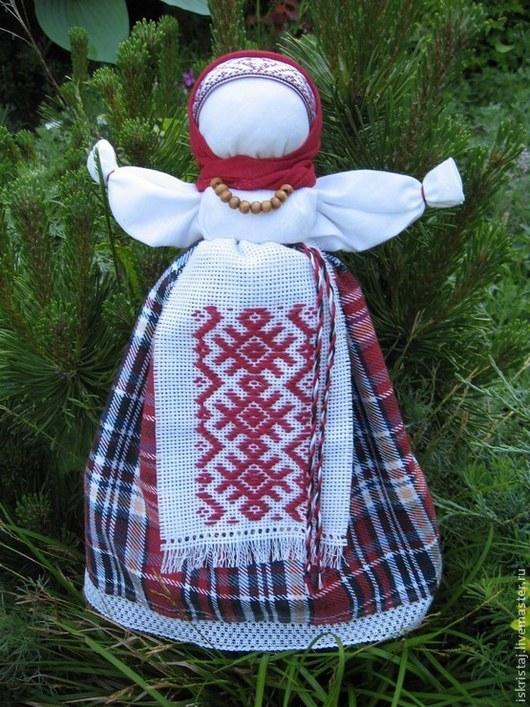 Народные куклы ручной работы. Ярмарка Мастеров - ручная работа. Купить Метлушка. Handmade. Бордовый, подарок женщине, оберег для дома
