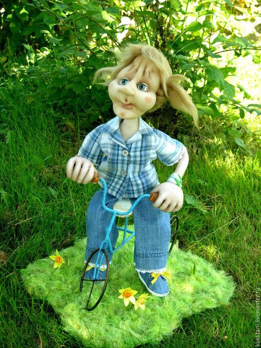 Коллекционные куклы ручной работы. Ярмарка Мастеров - ручная работа. Купить Юлька. Handmade. Девочка, текстильная кукла, детство, металл