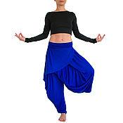 Одежда handmade. Livemaster - original item Blue pants, pants women`s, large pants, yoga pants trousers, boho. Handmade.