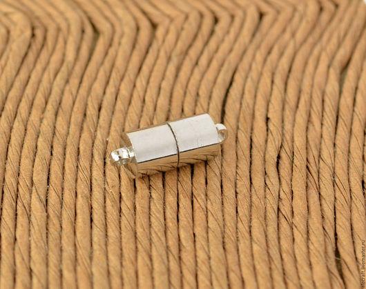 Для украшений ручной работы. Ярмарка Мастеров - ручная работа. Купить Замок магнитный Цилиндр 16,5мм серебро. Handmade.