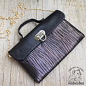 Сумки и аксессуары handmade. Livemaster - original item Women`s clutch bag leather gold Shining. Handmade.