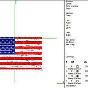Дизайн и реклама ручной работы. Ярмарка Мастеров - ручная работа флаг США дизайн машинной вышивки. Handmade.