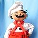 Человечки ручной работы. Ярмарка Мастеров - ручная работа. Купить текстильная  кукла Марио. Handmade. Разноцветный, шеф-повар, подарок