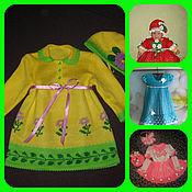 Работы для детей, ручной работы. Ярмарка Мастеров - ручная работа Платья и комплекты для девочек. Handmade.