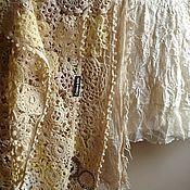 Аксессуары ручной работы. Ярмарка Мастеров - ручная работа Шаль Сливочный туман. Handmade.