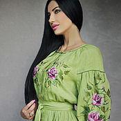 Одежда handmade. Livemaster - original item Dress with hand embroidery