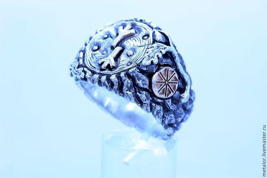 """Кольца ручной работы. Ярмарка Мастеров - ручная работа. Купить Кольцо """"Руническое дерево"""". Handmade. Разноцветный, мужское украшение"""
