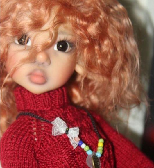 Куклы и игрушки ручной работы. Ярмарка Мастеров - ручная работа. Купить парик на МСД. Handmade. Оранжевый, msd, шерсть козы