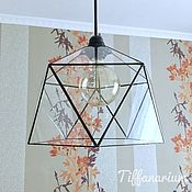 handmade. Livemaster - original item Loft Lamp Icosahedron. Afila. Handmade.