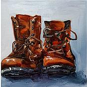 Картины и панно handmade. Livemaster - original item Oil Painting Old Shoes. Handmade.