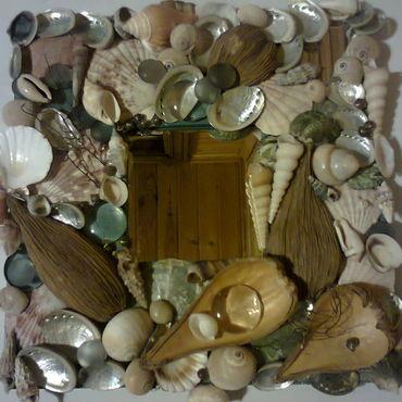 """Для дома и интерьера ручной работы. Ярмарка Мастеров - ручная работа Зеркало"""" Воспоминание  о  море"""". Handmade."""