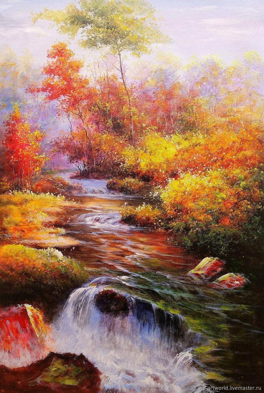 Лесной ручей, Картины, Москва,  Фото №1