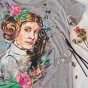 Одежда ручной работы. Ярмарка Мастеров - ручная работа женская футболка Принцесса Лея. Handmade.