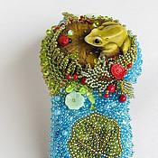 """Украшения ручной работы. Ярмарка Мастеров - ручная работа Браслет """"Утро в лесу"""". Handmade."""