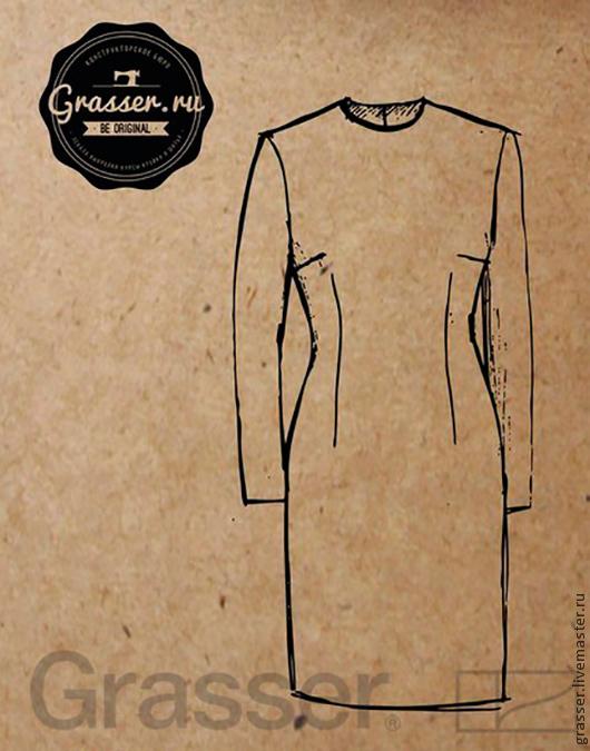 Выкройка №125. Базовые лекала платья малого объема с втачным рукавом.   Интернет-магазин выкроек GRASSER