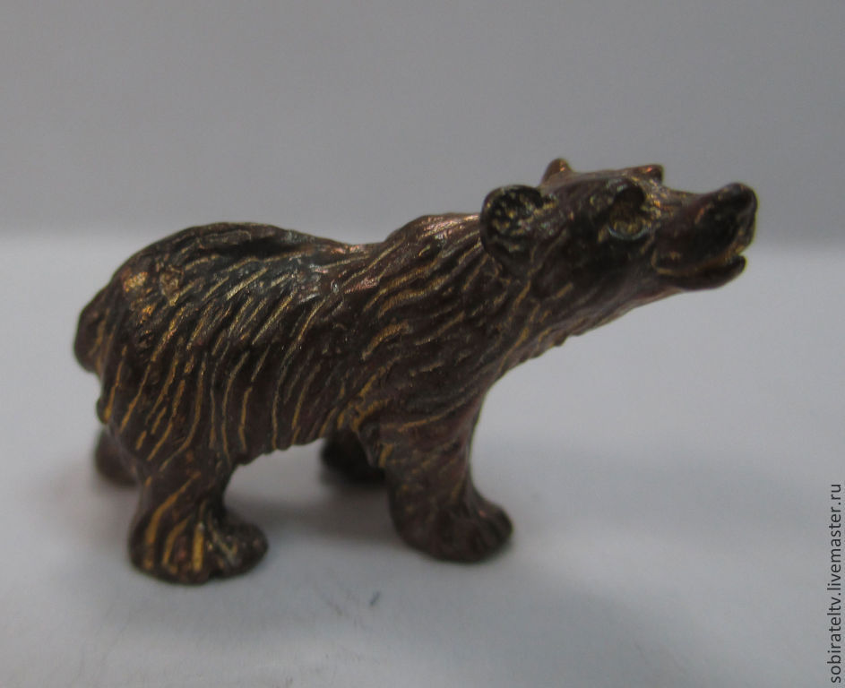 Статуэтки ручной работы. Ярмарка Мастеров - ручная работа. Купить Бронзовый медвежонок. Миниатюра. Handmade. Медведь, медведи, статуэтка медведь