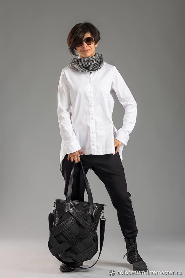 Интересная рубашка из хлопка, Блузки, Бургас,  Фото №1