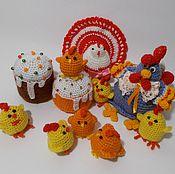 Куклы и игрушки handmade. Livemaster - original item Easter composition. Chicken, chickens, cakes, chickens.. Handmade.