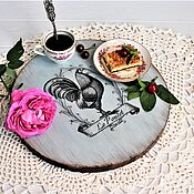 Посуда handmade. Livemaster - original item Round serving board for serving pizza, cheese, slicing.. Handmade.