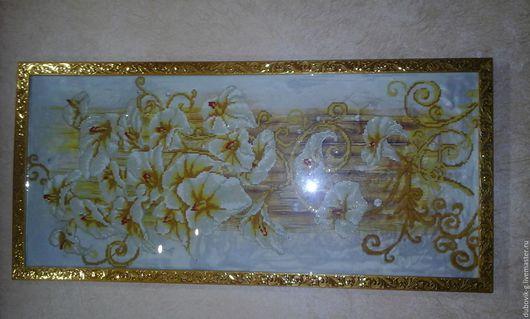 Картины цветов ручной работы. Ярмарка Мастеров - ручная работа. Купить Лилии Алмазная вышивка. Handmade. Алмазная, мозайка, лилии