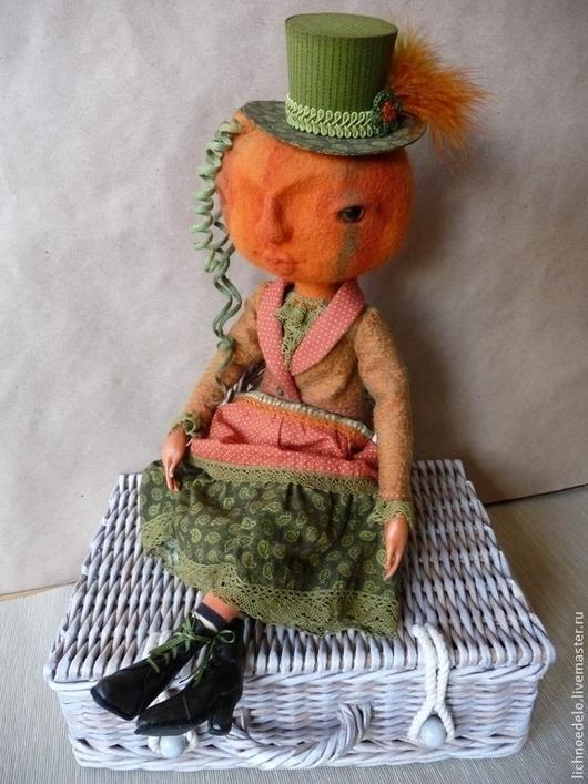 Коллекционные куклы ручной работы. Ярмарка Мастеров - ручная работа. Купить Primella Pumpkin.Танец под луной...Авторская кукла в смешанной технике. Handmade.