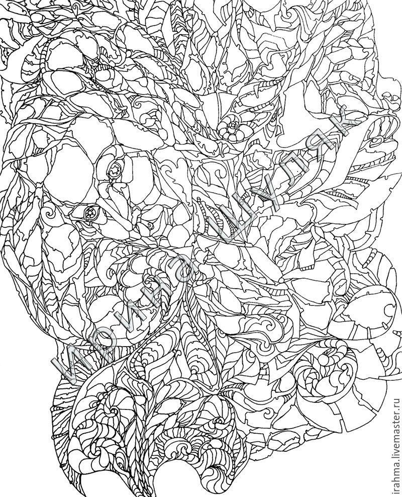 антистресс раскраски заказать на ярмарке мастеров 82e0hru картины пенза