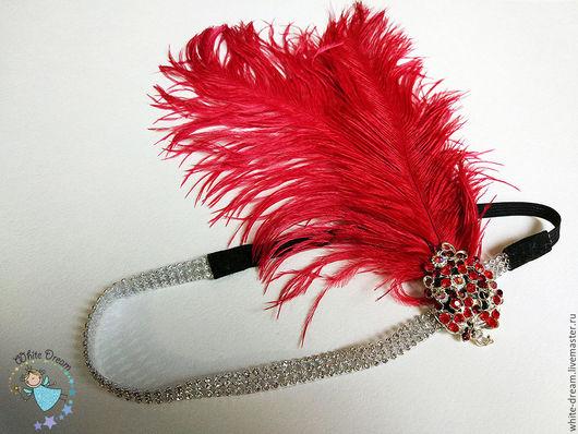 """Повязки ручной работы. Ярмарка Мастеров - ручная работа. Купить повязка для волос """" Chicago Red"""". Handmade. Ярко-красный"""