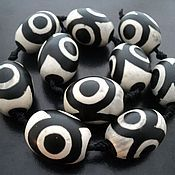 Материалы для творчества handmade. Livemaster - original item Beads of agate DZI barrels 25mm. Handmade.
