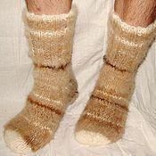 Аксессуары handmade. Livemaster - original item Socks Aztec feather thick art No. 99m from dog hair .. Handmade.