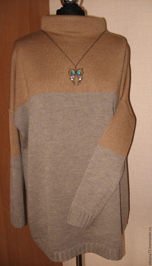 """Кофты и свитера ручной работы. Ярмарка Мастеров - ручная работа. Купить Джемпер """"Ирис"""". Handmade. Коричневый, кашемир, шёлк"""