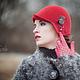 Шляпы ручной работы. Заказать Шляпка № 12 Красный Клош. AneleStudio. Ярмарка Мастеров. Классика, англия, леди