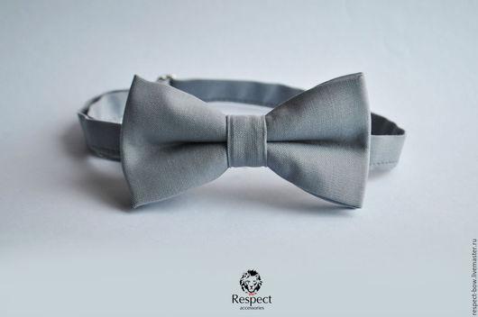 Галстуки, бабочки ручной работы. Ярмарка Мастеров - ручная работа. Купить Галстук бабочка Туман / серая бабочка галстук, купить в Москве. Handmade.