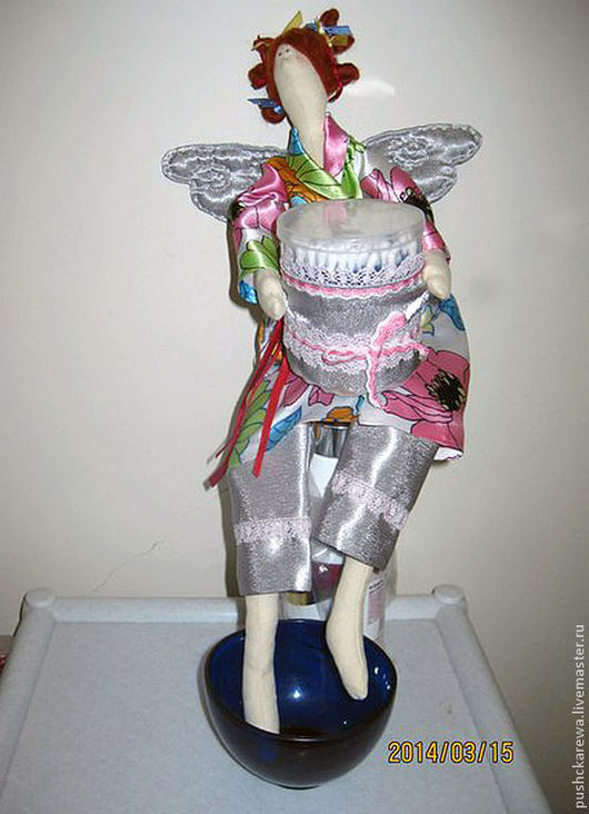 Куклы Тильды ручной работы. Ярмарка Мастеров - ручная работа. Купить Ангел ванной комнаты. Handmade. Серебряный, ангел, крылья