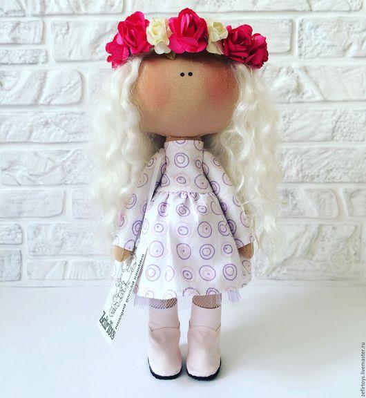 Коллекционные куклы ручной работы. Ярмарка Мастеров - ручная работа. Купить Бабочка. Handmade. Бежевый, итальянский трикотаж