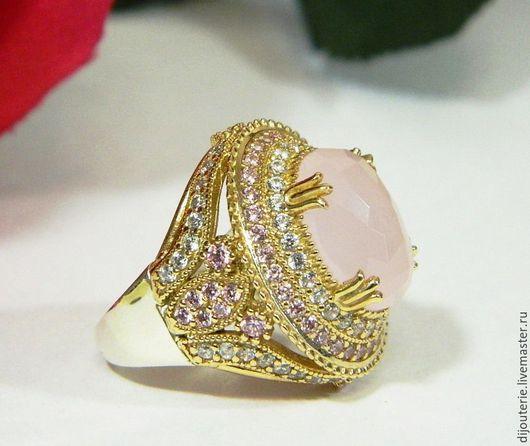 Кольца ручной работы. Ярмарка Мастеров - ручная работа. Купить Кольцо с Розовым кварцем, серебряное кольцо.. Handmade. Розовый