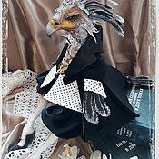 Портретная кукла ручной работы. Ярмарка Мастеров - ручная работа Портретная кукла: Птица- секретарь. Handmade.
