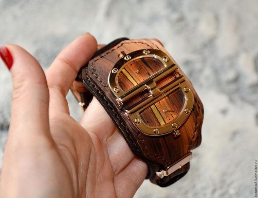 Часы ручной работы. Ярмарка Мастеров - ручная работа. Купить Стимпанк часы наручные . Эксклюзив. Натуральная кожа.. Handmade. Стимпанк