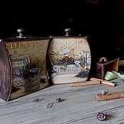 """Банки ручной работы. Ярмарка Мастеров - ручная работа Короба для специй """"Травы"""" Комплект из 3-х штук. Handmade."""