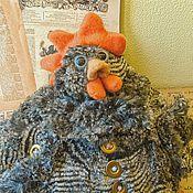 """Куклы и игрушки ручной работы. Ярмарка Мастеров - ручная работа Плюшевая игрушка"""" Черная курица"""". Handmade."""