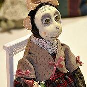 Куклы и игрушки ручной работы. Ярмарка Мастеров - ручная работа Подвижная кукла - обезьянка. Handmade.